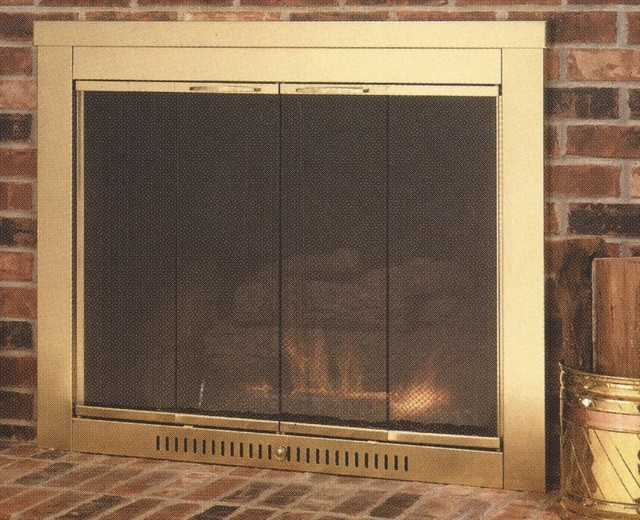 Sentry Contemporary Hearth Craft Fireplace Glass Door - Custom Product modern-fireplace-accessories