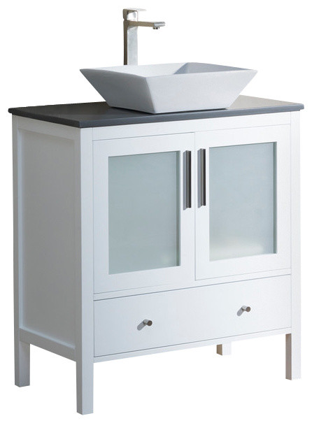 Vanity Fulton 32 With Vessel Sink, Espresso, Beige Sink, Beige ...
