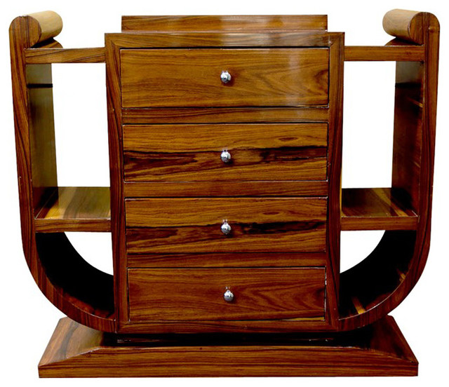French Art Deco 4-Drawer Console Cabinet furniture