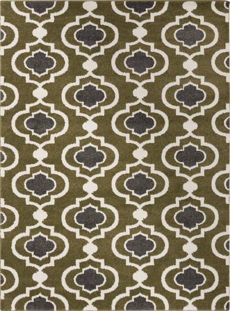 "Surya Horizon HRZ-1019 7'10"" Round Olive Rug contemporary-rugs"