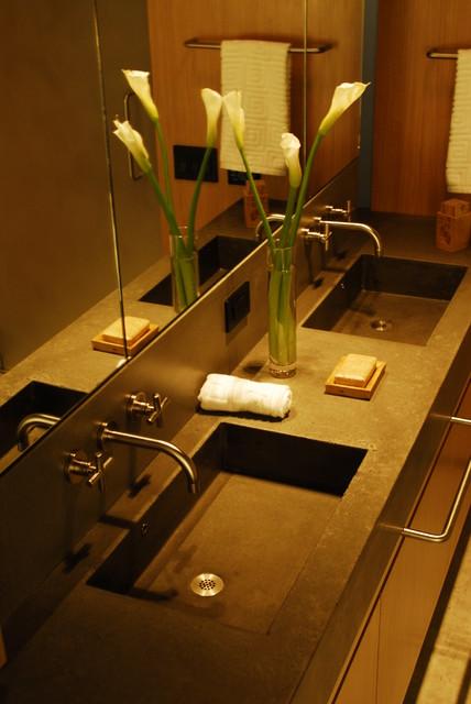 Polished Concrete Sink Modern Bathroom Sinks New