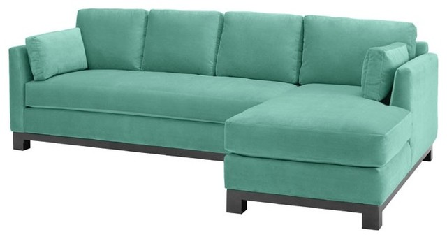 Avalon 2PC Sectional Sofa, Sixties Blue, Chaise on Right modern-sectional-sofas