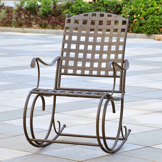 International Caravan Sante Fe Nailhead Rocker contemporary-outdoor-lounge-chairs