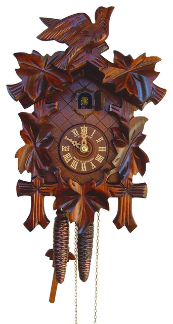 Traditional Leaf And Bird Cuckoo Clock Contemporary Cuckoo Clocks By Ivgstores