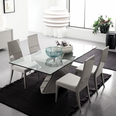 Rossetto Penta 5 piece Gray Dining Set modern-dining-tables