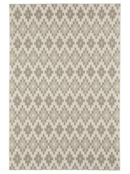 """Finesse Pueblo rug in Barley - An esteemed """"Capel Anywhere"""" rug collection woven on precision machine looms in Europe. These versatile rugs can be used in high traffic areas indoors - like kitchens and sunrooms - or to dress up covered porches and decks outside."""