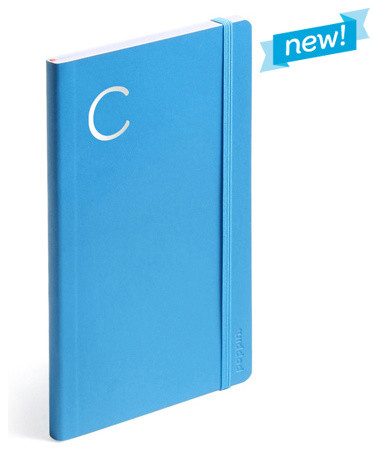 Personalized Soft Cover Notebook, Pool Blue, Medium modern-desk-accessories