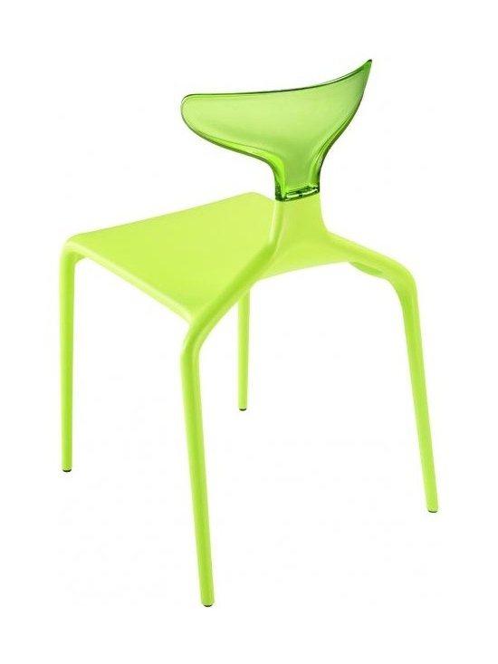 Green - Green - Punk Chair Set of 4 - The new chair designed for Green by Archirivolto Design, the Punk Chair is comfortable, strong and light. Destined for success, this chair is colorful, stackable and suitable for any environment which can be transformed easily with its combination of colors.