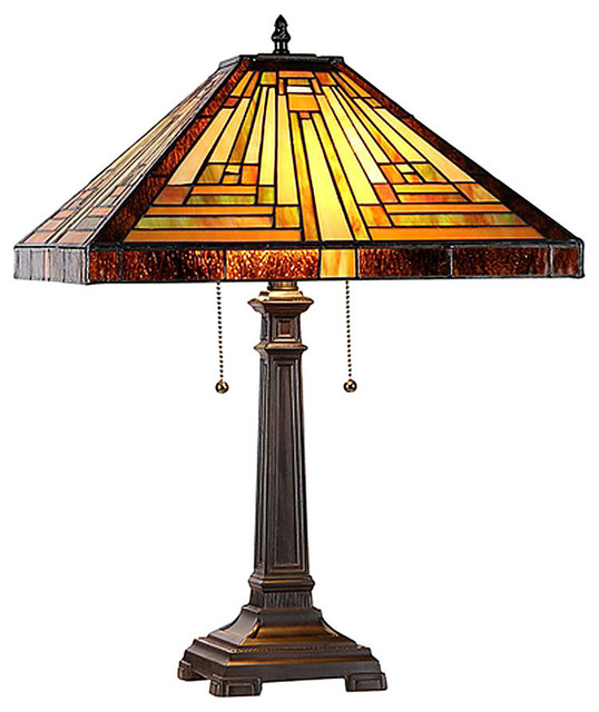stained glass table lamp craftsman table lamps by maclin studio. Black Bedroom Furniture Sets. Home Design Ideas