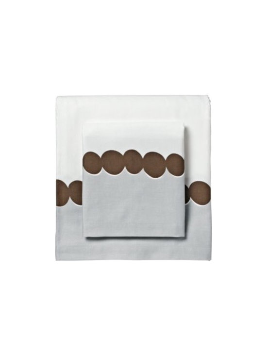 Chocolate Deco Dot Sheet Set