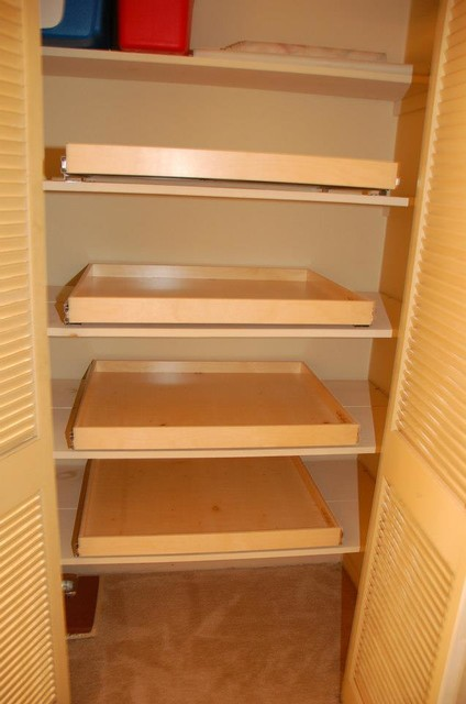 Pull Out Shelves for Your Linen Closet - Closet Organizers ...