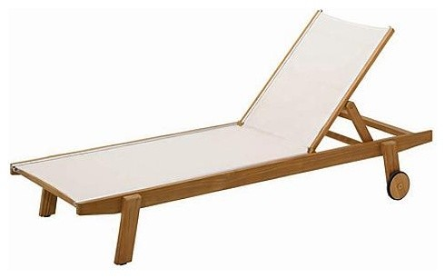 Clevedon Stacking Sling Lounge Chairr, Patio Furniture traditional-indoor-chaise-lounge-chairs