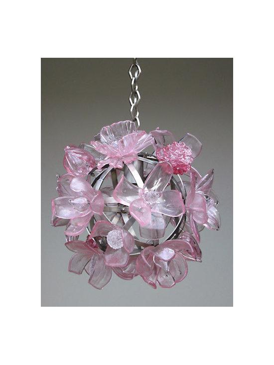 Elizabeth Lyons Glass Pink Chandelier -