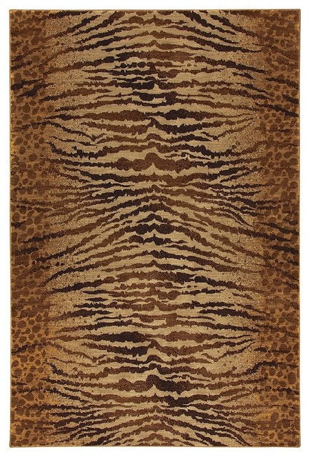 Animal Inspirations Carmel 8'x10' Rectangle Chestnut Beige-Dark Brown Area Rug contemporary-rugs