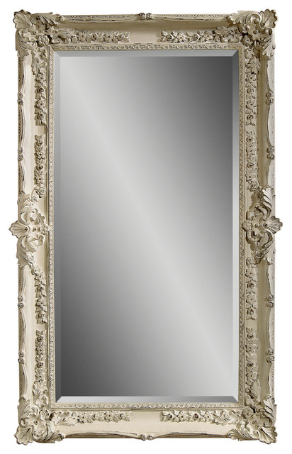 Antique White Victorian Wall Mirror Traditional