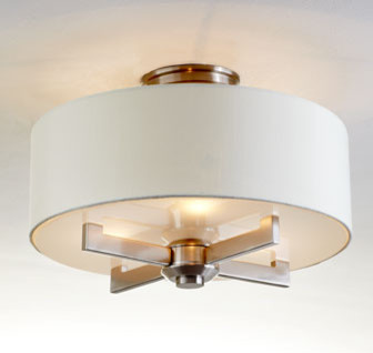 Silver Satin Ceiling Fixture traditional-ceiling-lighting