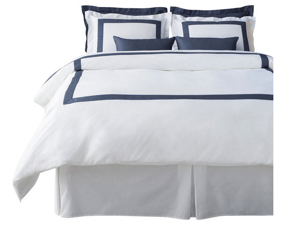 LaCozi - LaCozi Charcoal & White Duvet Cover Set - Dream weaver: This magnificent duvet cover set is woven with 1,100-thread count cotton for a luxury only a five-star resort can duplicate. Each set is hand sewn with a brilliant color of your choice against crisp white.