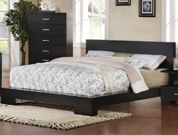 Acme furniture london black finish california king bed California king beds