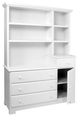 Kalani Combo Dresser and Hutch Set in White traditional-kids-dressers