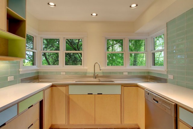 cf kitchen sink area modern kitchen seattle by kerf design