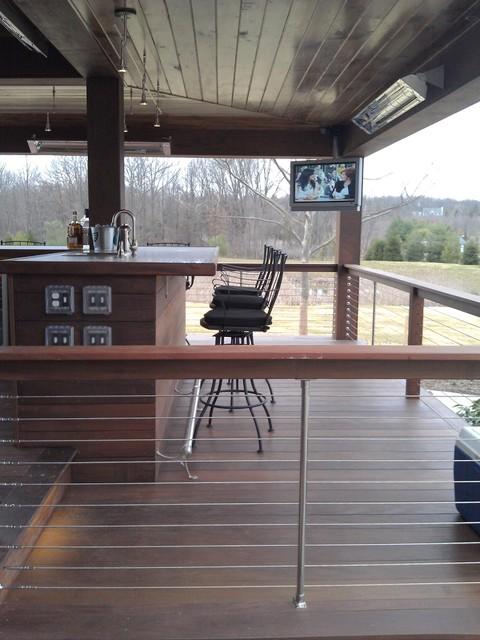 Modern/Contemporary Deck and Bar modern-porch