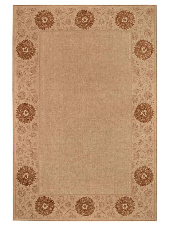 """Satin Kimono rug in Sand - The crisp, traditional designs, fashion forward colorations and extra tight packed pile (1/2"""" thick) will wear like iron and give years and years of superior service."""