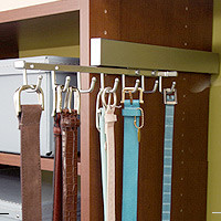 Slide-Out Belt Rack modern hooks and hangers