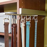 Slide-Out Belt Rack modern-hooks-and-hangers