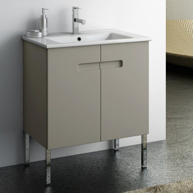 24 inch vanity cabinet with fitted sink contemporary bathroom vanities