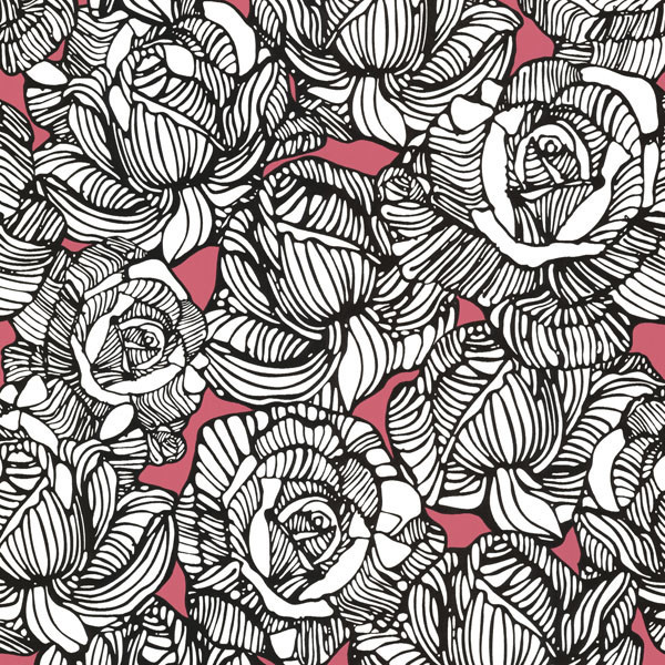 Calista Pink Modern Rose Wallpaper Contemporary Wallpaper By Brewster Home Fashions