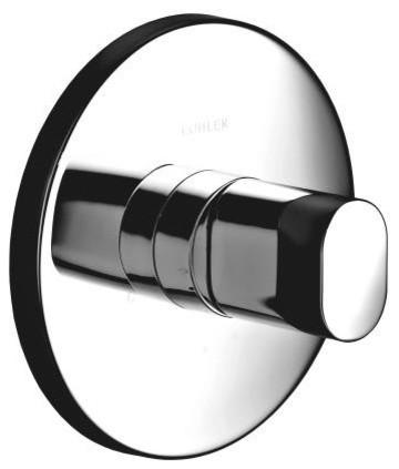 KOHLER K-T10069-9-CP Oblo Thermostatic Valve Trim in Vibrant Chrome contemporary-showerheads-and-body-sprays