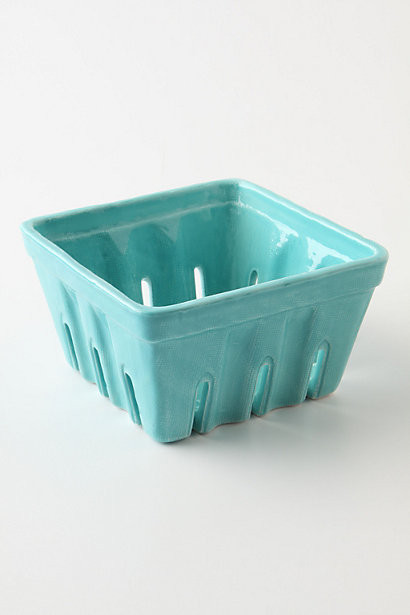 Farmers Market Basket, Large Square, Blue contemporary-serving-and-salad-bowls