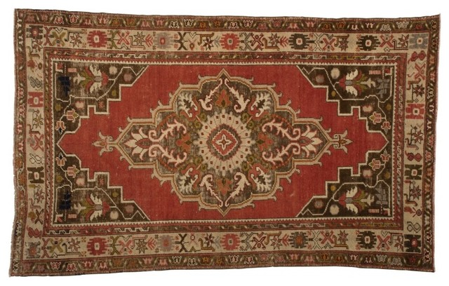 Vintage Oushak Rug traditional-rugs