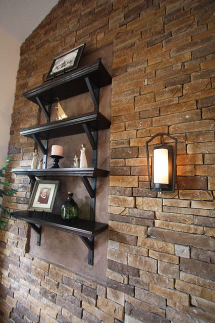 Living Spaces traditional-wall-shelves