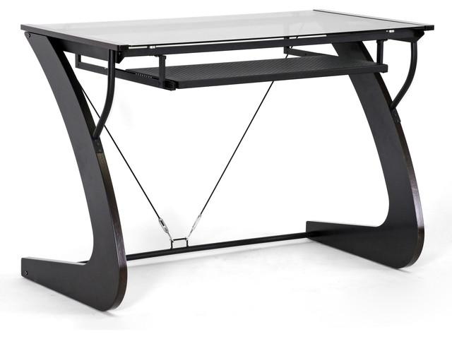 Sculpten Dark Brown Modern Computer Desk contemporary-desks-and-hutches