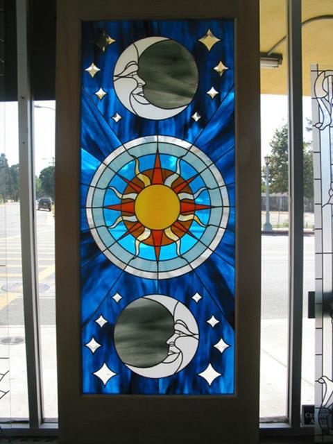 Custom Colorful Art Glass Design for Exterior or Interior Door - Modern - Windows And Doors ...