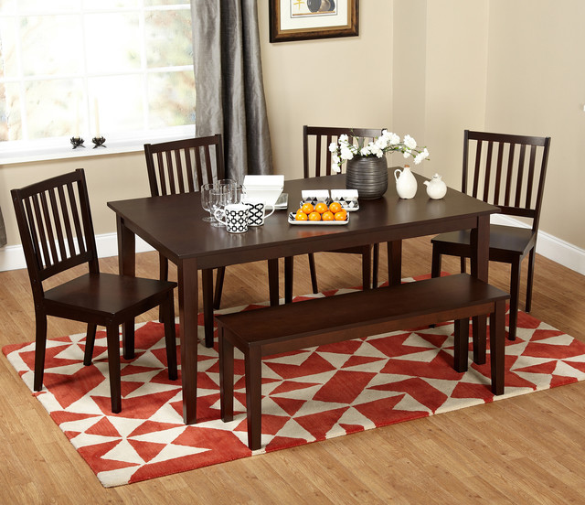 Piece Dining Table Set With Bench Contemporary Dining Tables