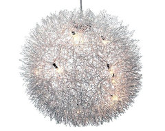 Entrelace Modern Hanging Chandelier Light contemporary-chandeliers