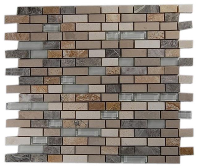 Alloy Sutjeska Random Glass And Marble Tiles contemporary-tile