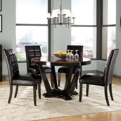 Standard Furniture Eclipse 5 Piece Round Dining Table Set modern-dining-tables