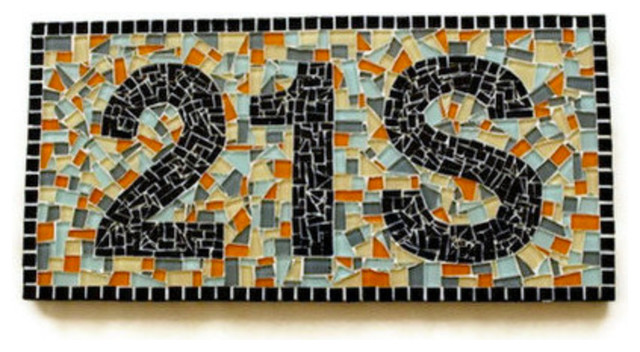 Mosaic House Numbers contemporary-house-numbers