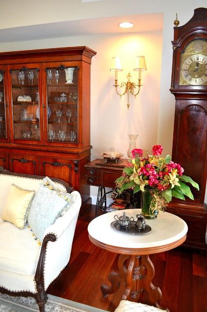 Doris Clements Interiors tropical-living-room