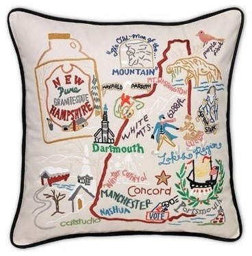 New Hampshire State Pillow by Catstudio traditional-decorative-pillows