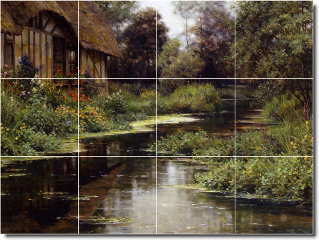 Summer Afternoon Normandy Tile Mural By Lawrence Alma-Tadema traditional-tile