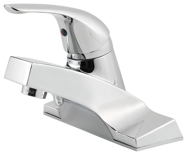 7 Faucet Finishes For Fabulous Bathrooms: Price Pfister 534660 Pfirst Series Single Control 4