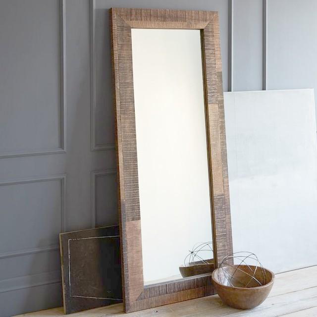 Reclaimed Wood Floor Mirror Contemporary Kids Mirrors