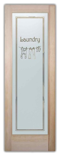 Clothesline 2 laundry room door traditional interior for Laundry external doors