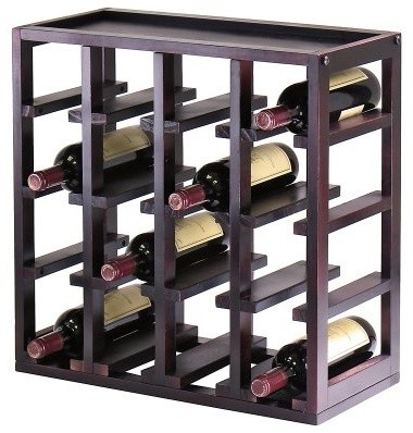 Kingston Stackable 16 Bottle Wine Rack Cube modern-wine-racks