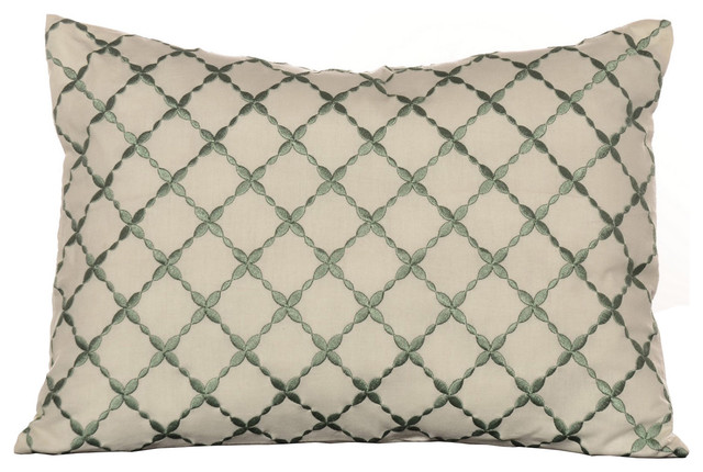 Laura Ashley 'Melinda' Embroidered Breakfast Pillow - Contemporary - Decorative Pillows - by ...