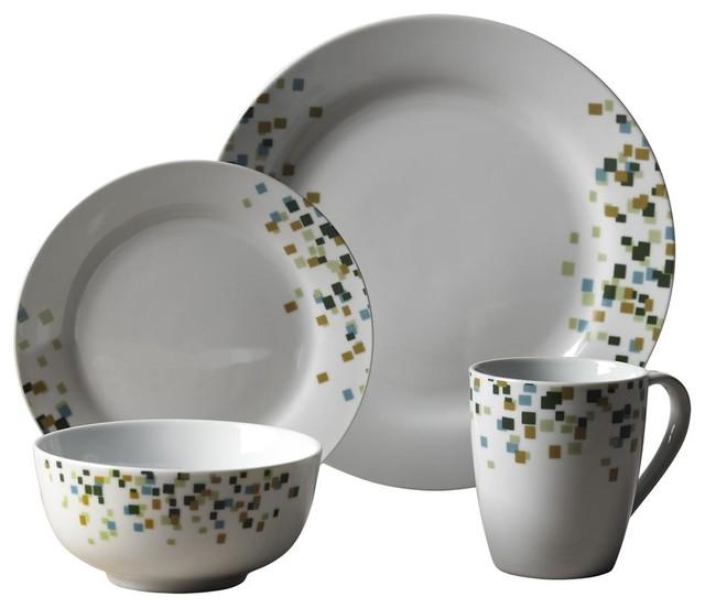 16 Piece Cadiff Dinnerware Set contemporary-dinnerware-sets